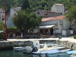 Valun island Cres Croatia - village center, our house is located not even 30m up