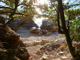 Croatia beaches - Island Cres - Honeymoon beach near Stivan