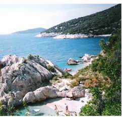 Croatia beaches - secluded cove near Lubenice beach, island Cres
