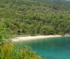 Valun isalnd Cres Croatia - beach Raca