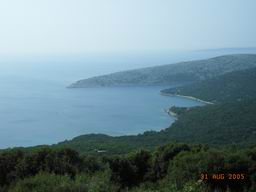 Croatia island Cres walking - view of Ustrine bay
